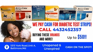 Sell Us Your Strips-Cash for Diabetic Test Strips
